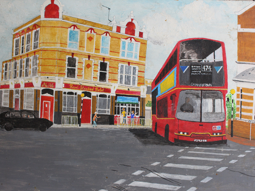 The Royal Standard by local North Woolwich artist Les Hunt